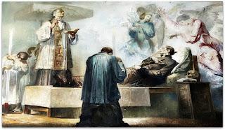 A Morte de São Luiz Gonzaga , Aldo Locatelli, Catedral de Novo Hamburgo (Detalhe)