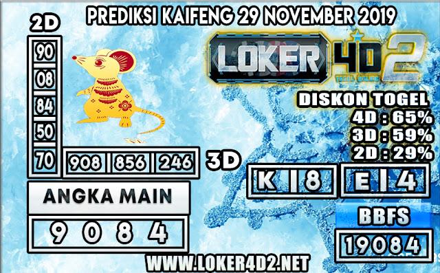PREDIKSI TOGEL KAIFENG POOLS LOKER4D2 29 NOVEMBER 2019