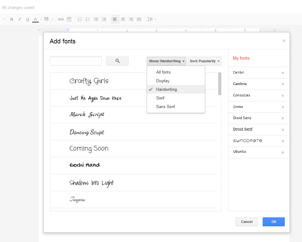 How to add New Fonts in Google Docs or Google Drive