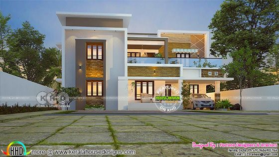 4 bedroom modern flat roof contemporary house