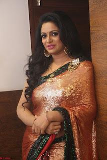 Udaya Bhanu lookssizzling in a Saree Choli at Gautam Nanda music launchi ~ Exclusive Celebrities Galleries 109.JPG