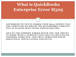 QuickBooks Error H505 Fix Resolve Support ☎ 1844-551-9757