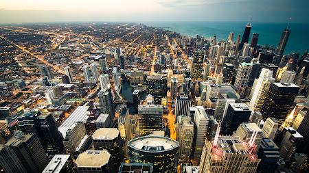 Urban Scenery. Cityscape Chicago UHD