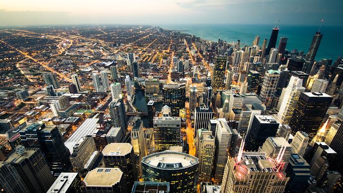 Wallpaper: Urban Scenery. Cityscape Chicago. Skyscrapers