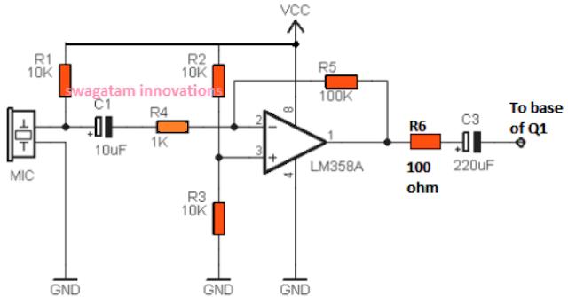 dog barking preventer circuit