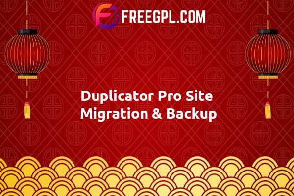 Duplicator Pro - Site Migration & Backup Nulled Download Free