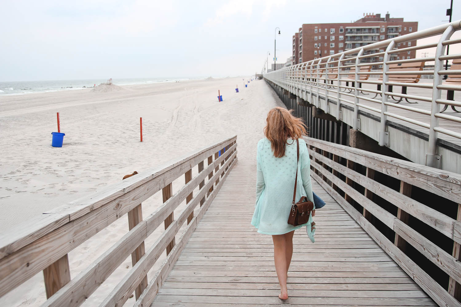 nyc vintage blog, nyc fashion blogger, nyc fashion blog, polka dot button up, long beach new york, long beach boardwalk
