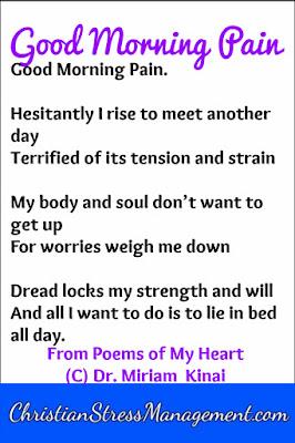 Good morning pain depression poem
