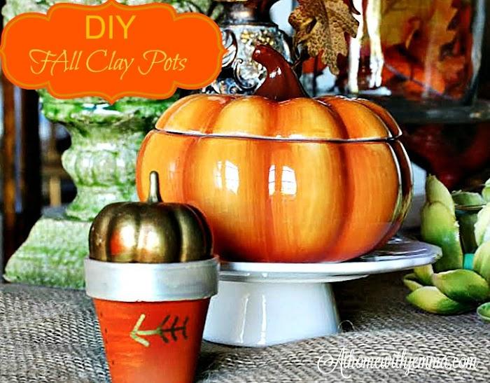 DIY Fall Clay Pot