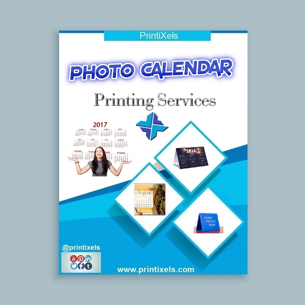Photography Calendar Printing : Photo calendar printing services printixels™ philippines