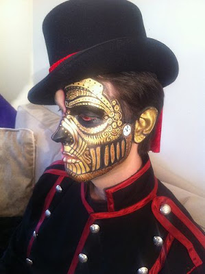 Special fx makeup for steampunk - gold and black sfx mua