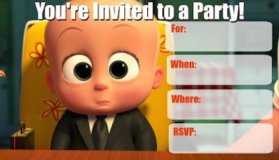 printable boss baby invitations