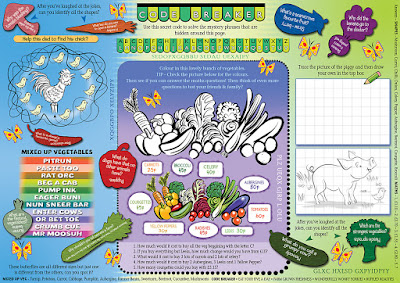 Illustration spring puzzles for Toby Taverns by Hot Frog Graphics