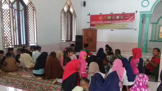 Masya Allah, Ada Lomba Tartil dan Hafidz Al Qur'an di Lokasi TMMD ke 102 Kodim 1415/Kep Selayar