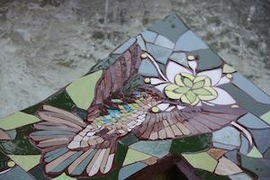 Mosaico de colibrí pileta de Salamanca