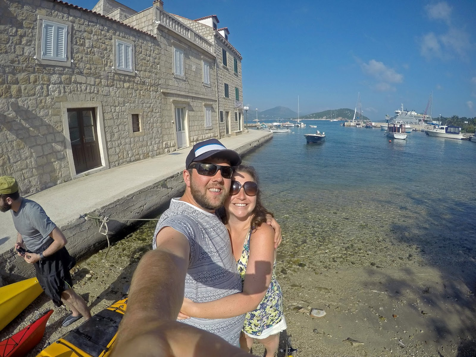 Couple at Sipan Island Croatia