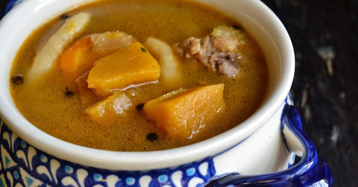 greedy girl jamaican chicken pumpkin soup