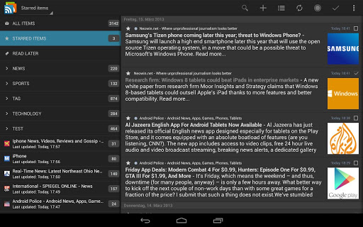 Free Download gReader Pro (Google Reader) for Android Phone | Nokia