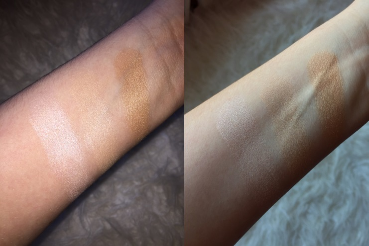 Makeup Revolution Radiant Lights Swatched