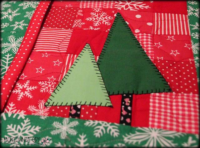 podkładki patchworkowe na Boże Narodzenie