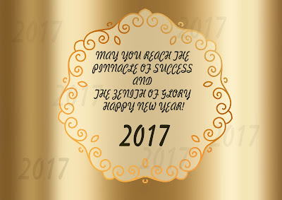 Happy New Year Greeting Card 2017