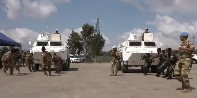 Rayakan HUT RI Ke-73, Pasukan Garuda di Lebanon Gelar Lomba Balap Tarik Ranpur