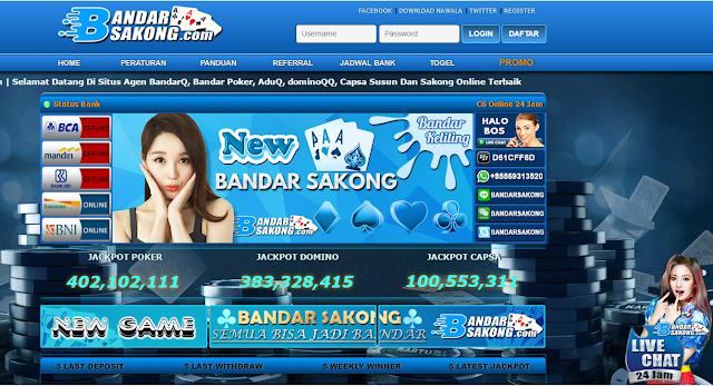 Agen QQ Bandar Sakong Domino 99 Poker Kiu BandarQ Online