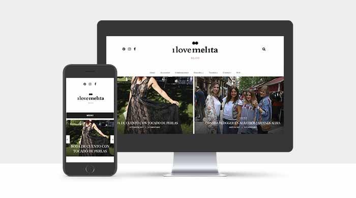 Diseño Web de I Love Melita