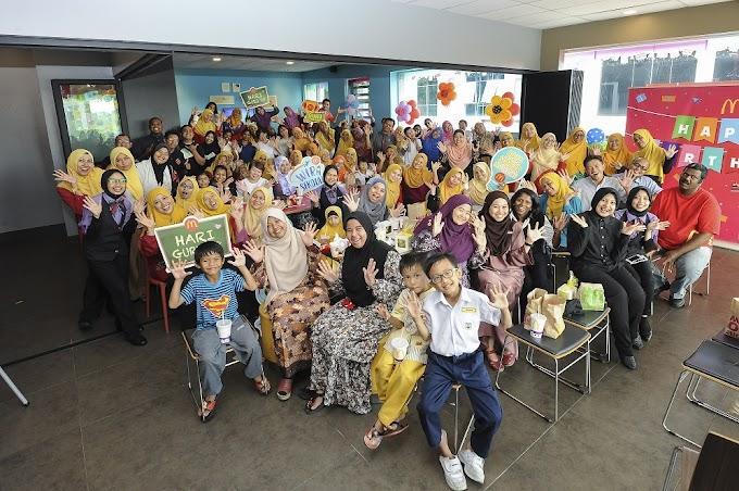 McDonald's Malaysia beri pengiktirafan kepada 25 guru menerusi Anugerah Guru Inspirasi McDonald's 2018.
