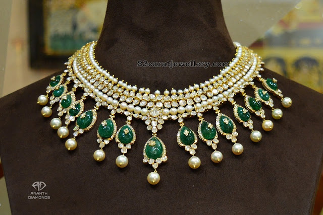 Flat diamond Chokers by Ananth Diamonds