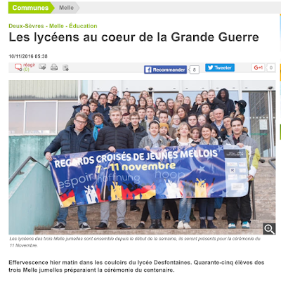 French Village Diaries Remembrance Day Unite Not Fight Melle France Germany Belgium