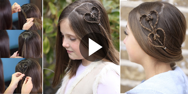 How To Create Accent Hearts Hairstyle, See Tutorial