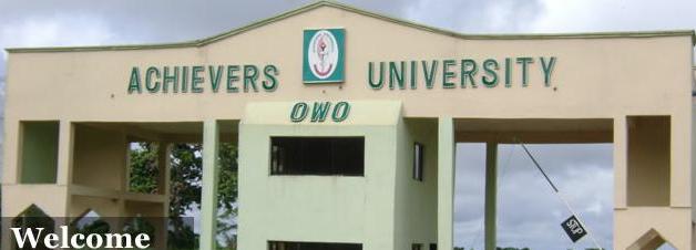 Achievers University OwoRecruitment 2019