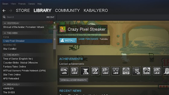 Crazy Pixel Streaker STEAM Library