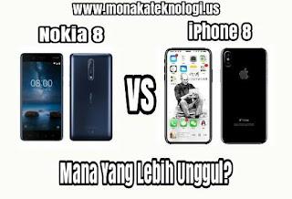 Duel Nokia 8 Vs iPhone 8