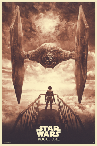 Star Wars Rogue One Acme Archives Variant Screen Print by Karl Fitzgerald x Bottleneck Gallery