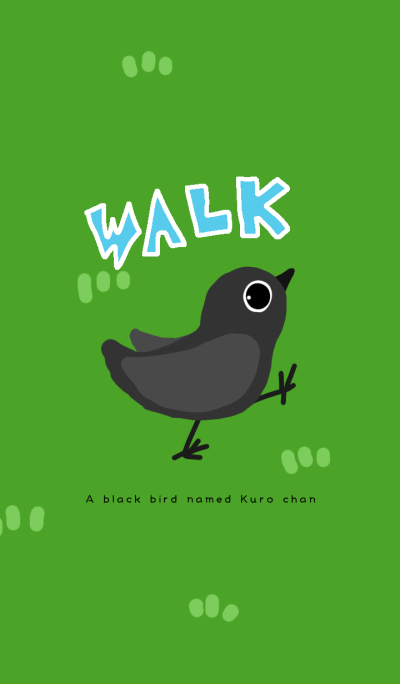 walking black bird