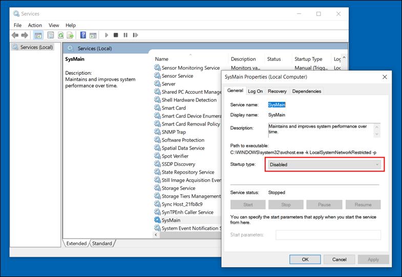 تعطيل-خدمة-Superfetch-Windows-Search-في-ويندوز