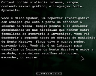 Outlast traduzido em Português Game PC Windows