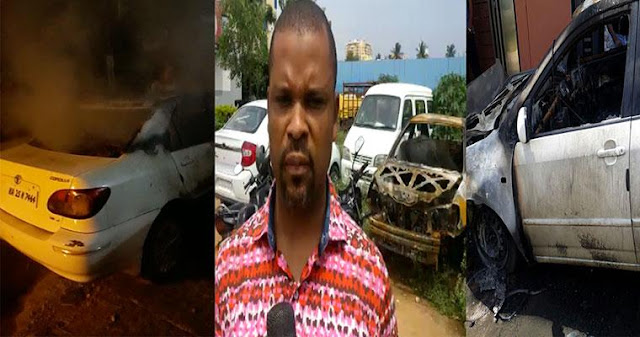 Photo: One dead, car razed as Nigerians clash over Biafra in Bengaluru, India