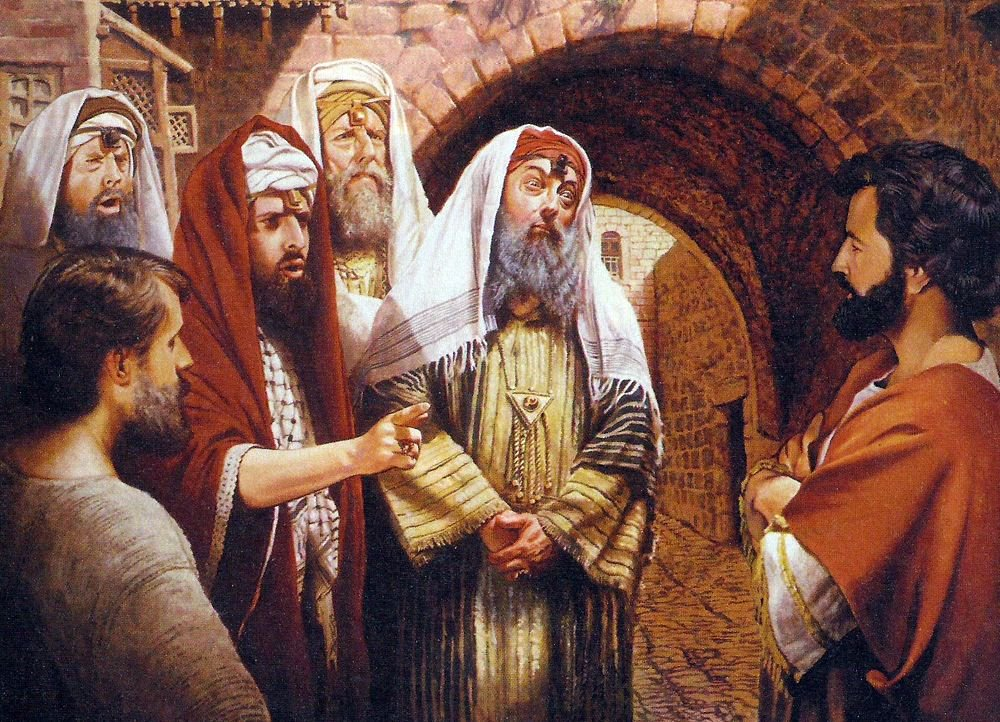 The Pharisees and the teachers of the law were looking for a reason to accuse Jesus.