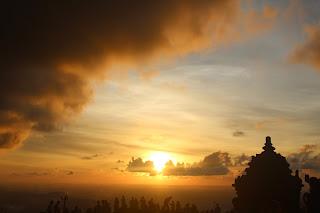 Sunset di Candi Ijo