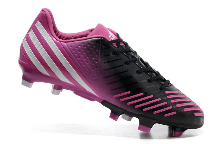 a10a0b3f47b5 ... providing you with maximum grip and acceleration on natural firm ground  pitches. Newest Adidas Predator LZ DB Football boots Black Pink sales 2013