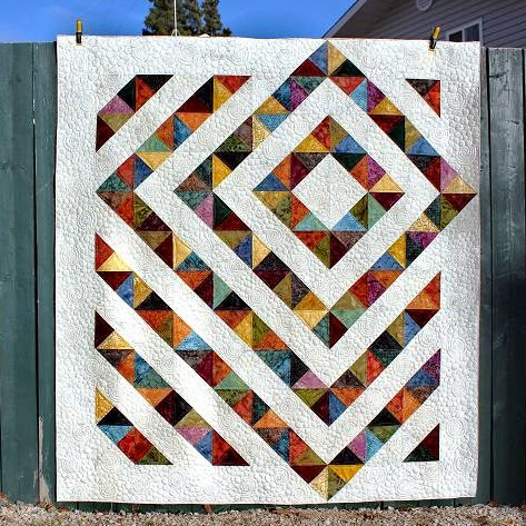Four Patch Charm Quilt Free Tutorial by Tamarack Shack Longarm Quilting Blog