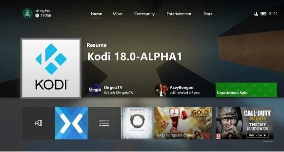 Kodi 18.0-ALPHA1 adesso è disponibile anche su Xbox One.