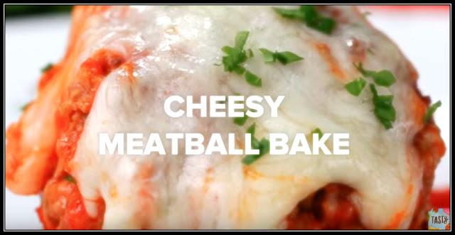 5 Amazing Meatball Recipes - Cheesy Meatball Bake
