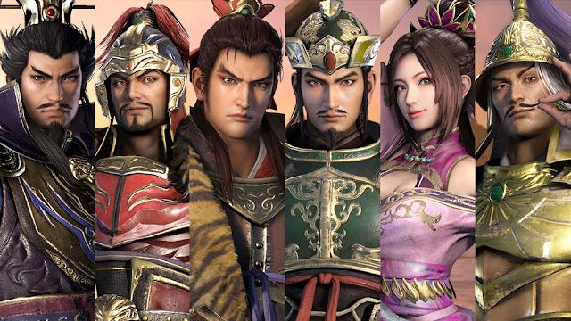 เกมสามก๊กมุโซ Dynasty Warriors 9 อัพเดทภาพตัวละครหลัก