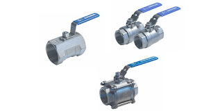 one piece, two piece, and three piece ball valves