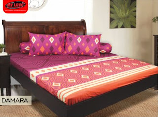 sprei my love motif damara