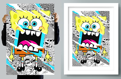 "SpongeBob SquarePants ""Loudmouf Square Pants"" Print by Greg Mike"